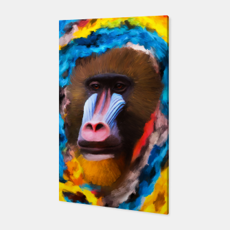 Thumbnail image of Abstract Monkey Canvas, Live Heroes