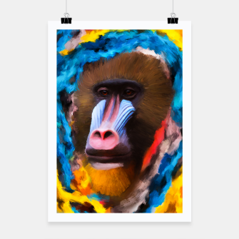 Thumbnail image of Abstract Monkey poster, Live Heroes