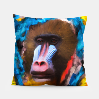 Thumbnail image of Abstract Monkey Pillow, Live Heroes