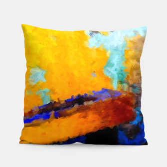 Thumbnail image of Abstract Yellow Pillow, Live Heroes