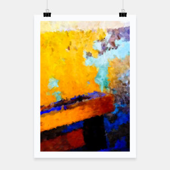 Thumbnail image of Abstract Yellow Poster, Live Heroes