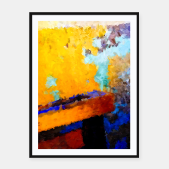 Thumbnail image of Abstract Yellow Framed Poster, Live Heroes
