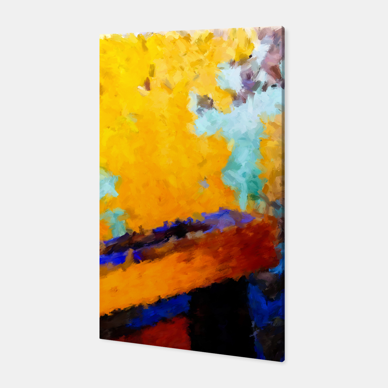 Image of Abstract Yellow Canvas - Live Heroes