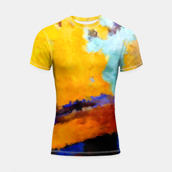 Thumbnail image of Abstract Yellow Shortsleeve rashguard, Live Heroes