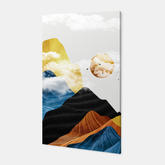 Thumbnail image of Sunset mountains abstract canvas, Live Heroes