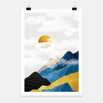 Thumbnail image of Abtract Mountains Poster, Live Heroes