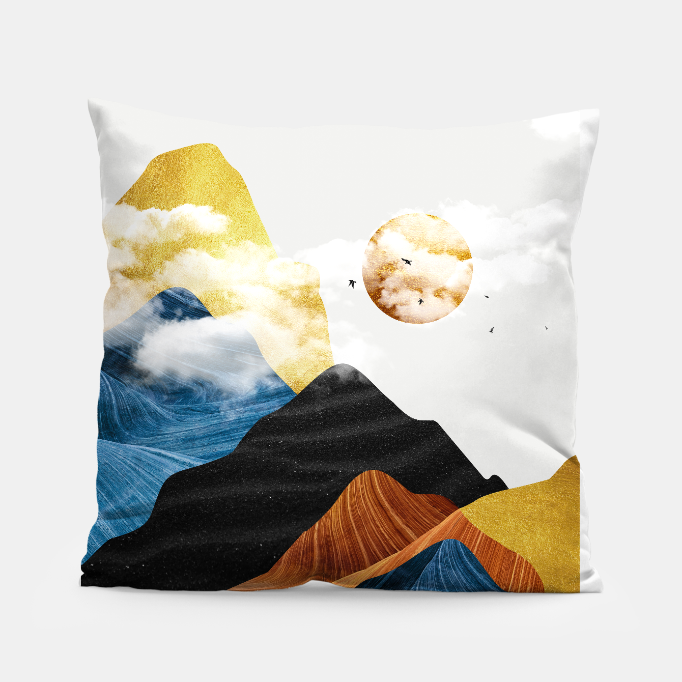 Image of Abtract Mountains Pillow - Live Heroes