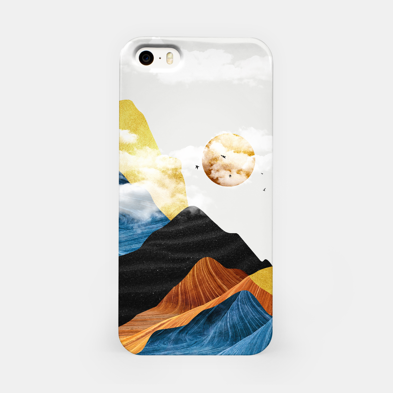 Image of Abtract Mountains iPhone Case - Live Heroes