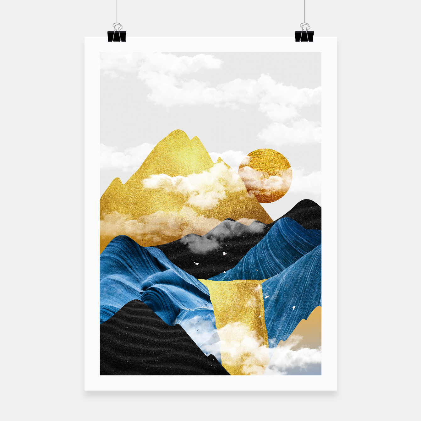 Image of Abtract Mountains Poster - Live Heroes