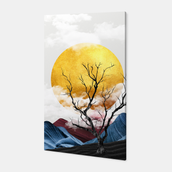 Thumbnail image of Abtract Mountains Sunset Canvas, Live Heroes