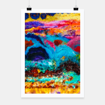 Thumbnail image of Abstract Psychedelic Poster, Live Heroes