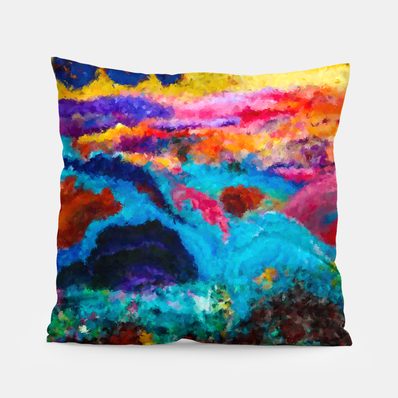 Image of Abstract Psychedelic Pillow - Live Heroes