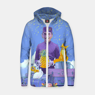 Thumbnail image of Lobby man Zip up hoodie, Live Heroes