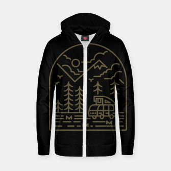 Miniatur Into the Mountain Zip up hoodie, Live Heroes