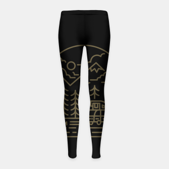 Miniatur Into the Mountain Girl's leggings, Live Heroes