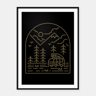 Miniatur Into the Mountain Framed poster, Live Heroes