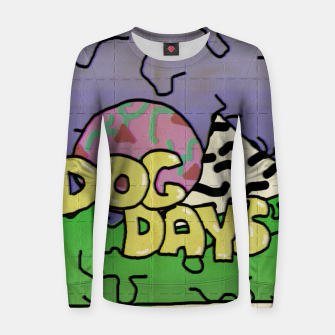 Miniatur dog days blotters Women sweater, Live Heroes