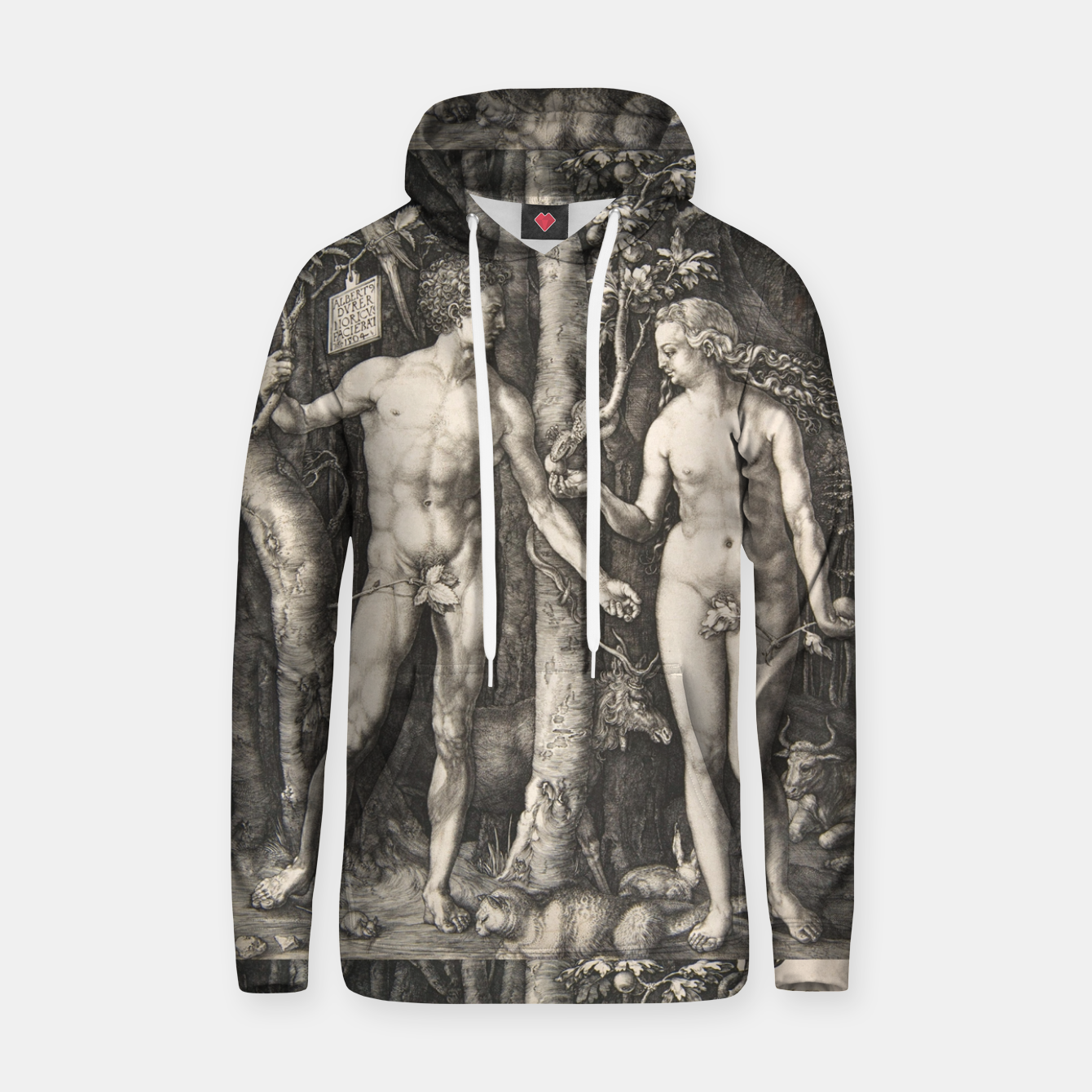 Image of Adam & Eve Sudadera con capucha - Live Heroes