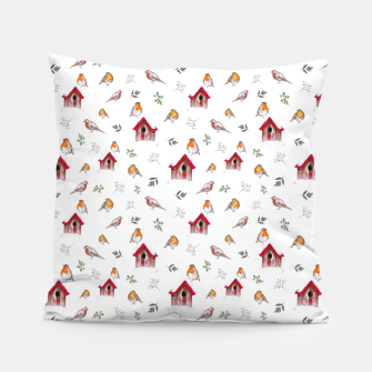 Thumbnail image of Winter Robins Pillow, Live Heroes