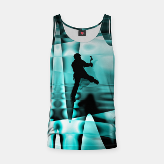 Thumbnail image of Climbing the frozen waterfall tank top, Live Heroes