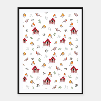 Thumbnail image of Winter Robins Framed poster, Live Heroes