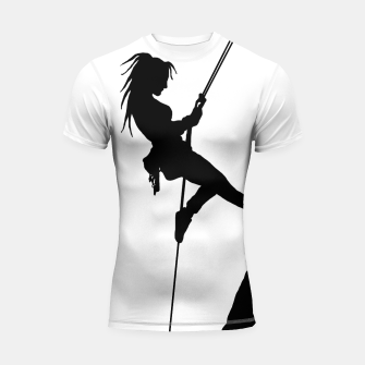 Thumbnail image of Climber Girl short sleeve rashguard t shirt, Live Heroes