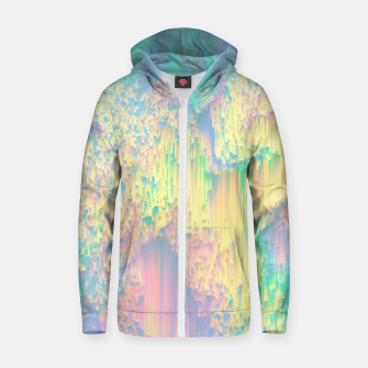 Thumbnail image of Remixed Nature Zip up hoodie, Live Heroes