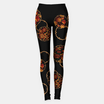 Thumbnail image of Japanese traditional family crest art. flower and butterfly emblem. Leggings, Live Heroes
