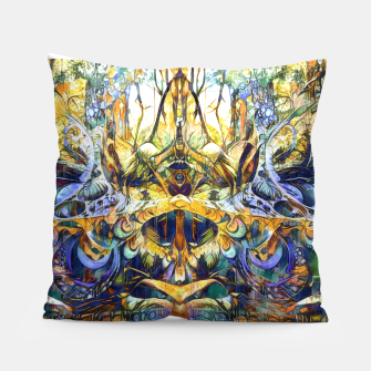 Thumbnail image of Forest deepdream Pillow, Live Heroes