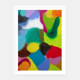 Thumbnail image of Patchwork Framed poster, Live Heroes
