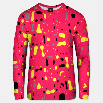 Thumbnail image of Lovely Pink with black and yellow spots, fresh abstract design Unisex sweater, Live Heroes