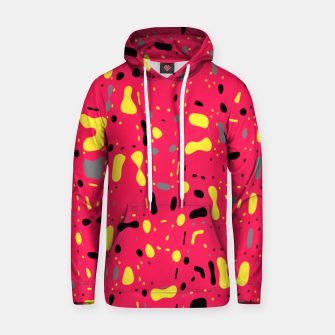 Thumbnail image of Lovely Pink with black and yellow spots, fresh abstract design Hoodie, Live Heroes