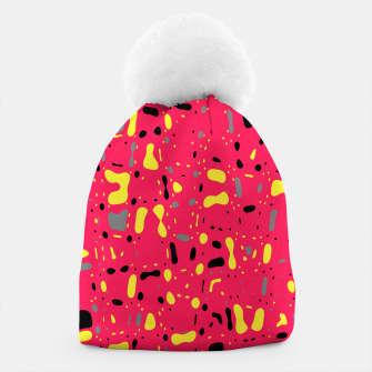 Imagen en miniatura de Lovely Pink with black and yellow spots, fresh abstract design Beanie, Live Heroes