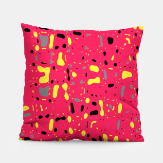 Imagen en miniatura de Lovely Pink with black and yellow spots, fresh abstract design Pillow, Live Heroes