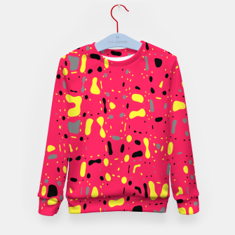 Imagen en miniatura de Lovely Pink with black and yellow spots, fresh abstract design Kid's sweater, Live Heroes