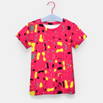 Imagen en miniatura de Lovely Pink with black and yellow spots, fresh abstract design Kid's t-shirt, Live Heroes