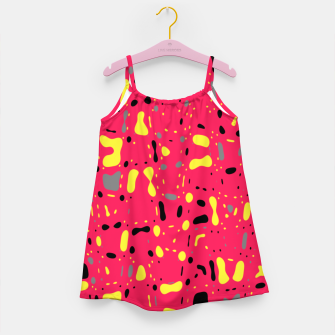 Imagen en miniatura de Lovely Pink with black and yellow spots, fresh abstract design Girl's dress, Live Heroes