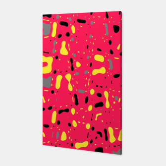 Imagen en miniatura de Lovely Pink with black and yellow spots, fresh abstract design Canvas, Live Heroes