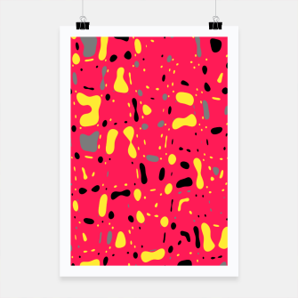 Imagen en miniatura de Lovely Pink with black and yellow spots, fresh abstract design Poster, Live Heroes