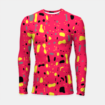 Imagen en miniatura de Lovely Pink with black and yellow spots, fresh abstract design Longsleeve rashguard , Live Heroes
