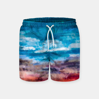 Thumbnail image of Abstract Sunset Swim Shorts, Live Heroes