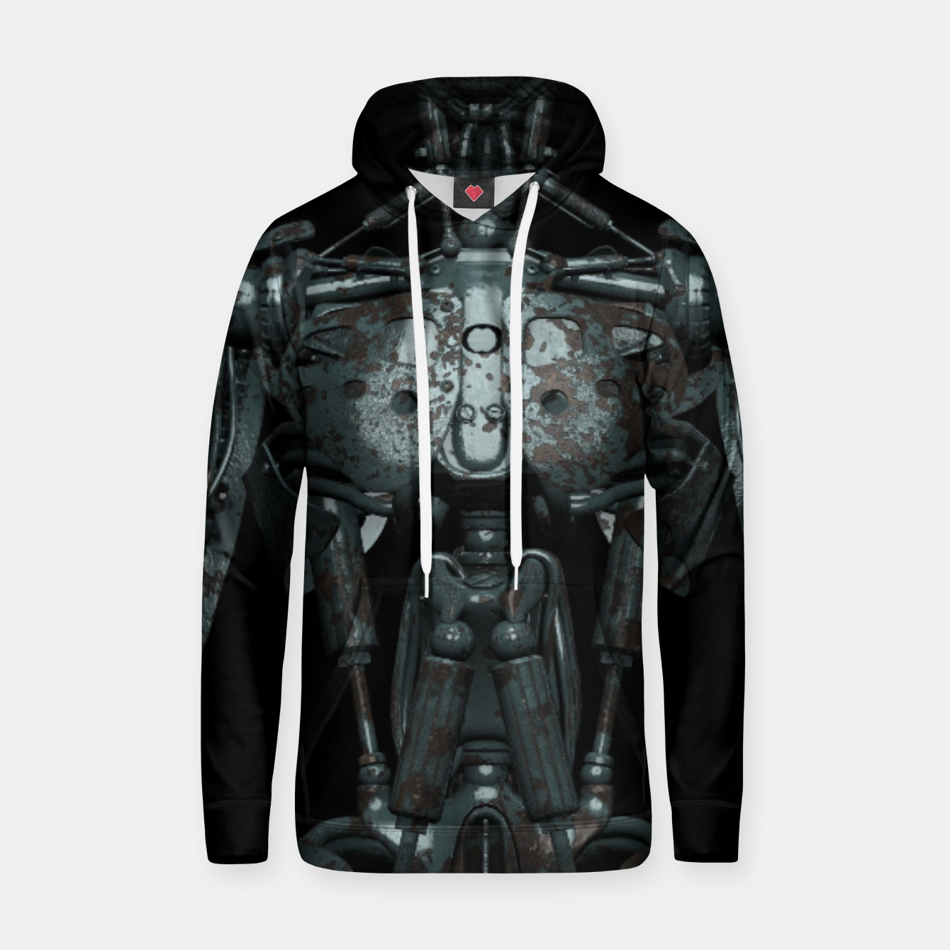 Image of Rusty Cyborg Robot Body Design Kapuzenpullover - Live Heroes