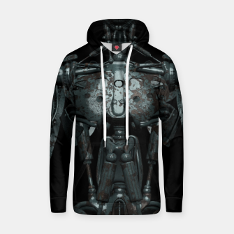 Thumbnail image of Rusty Cyborg Robot Body Design Kapuzenpullover, Live Heroes