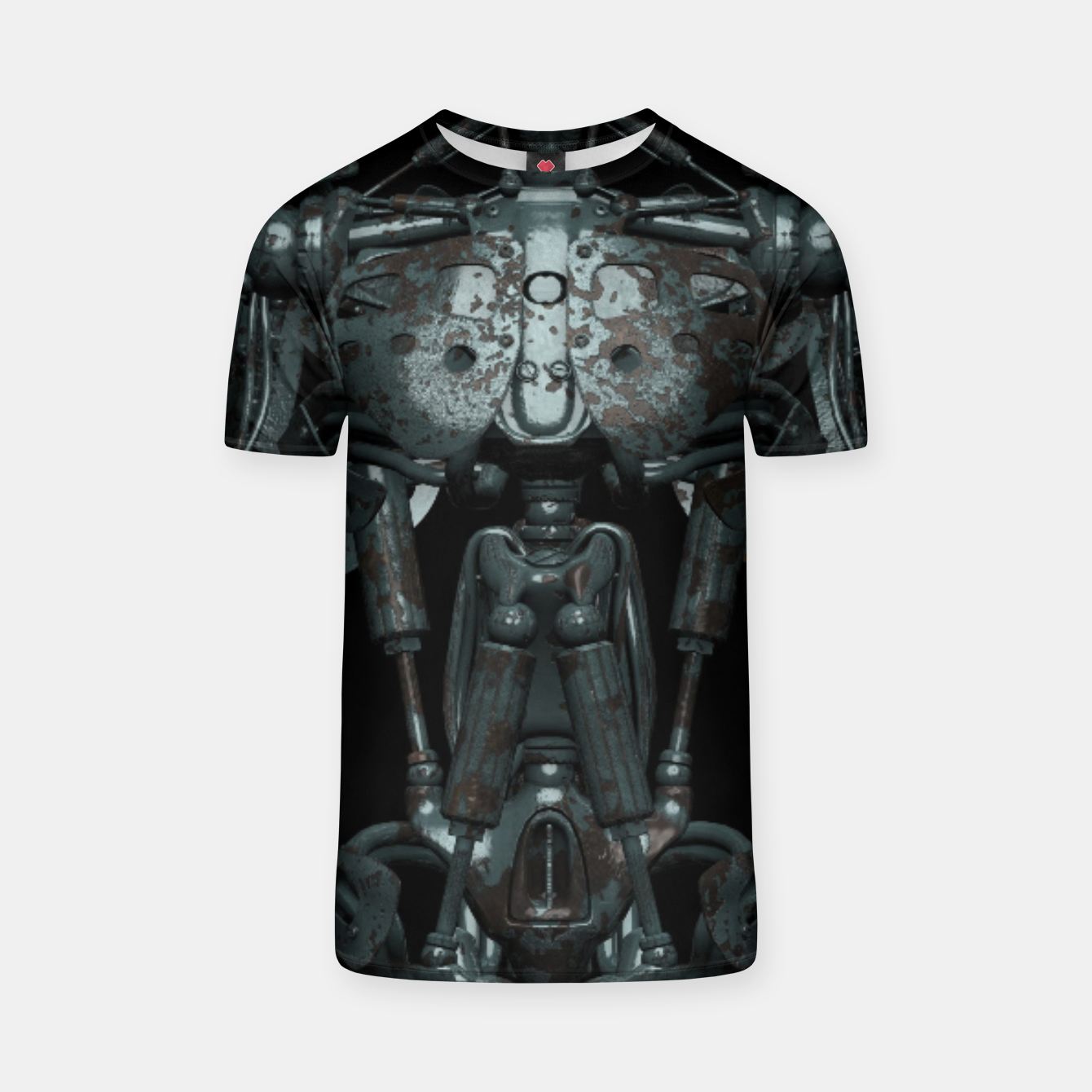 Image of Rusty Cyborg Robot Body Design T-Shirt - Live Heroes