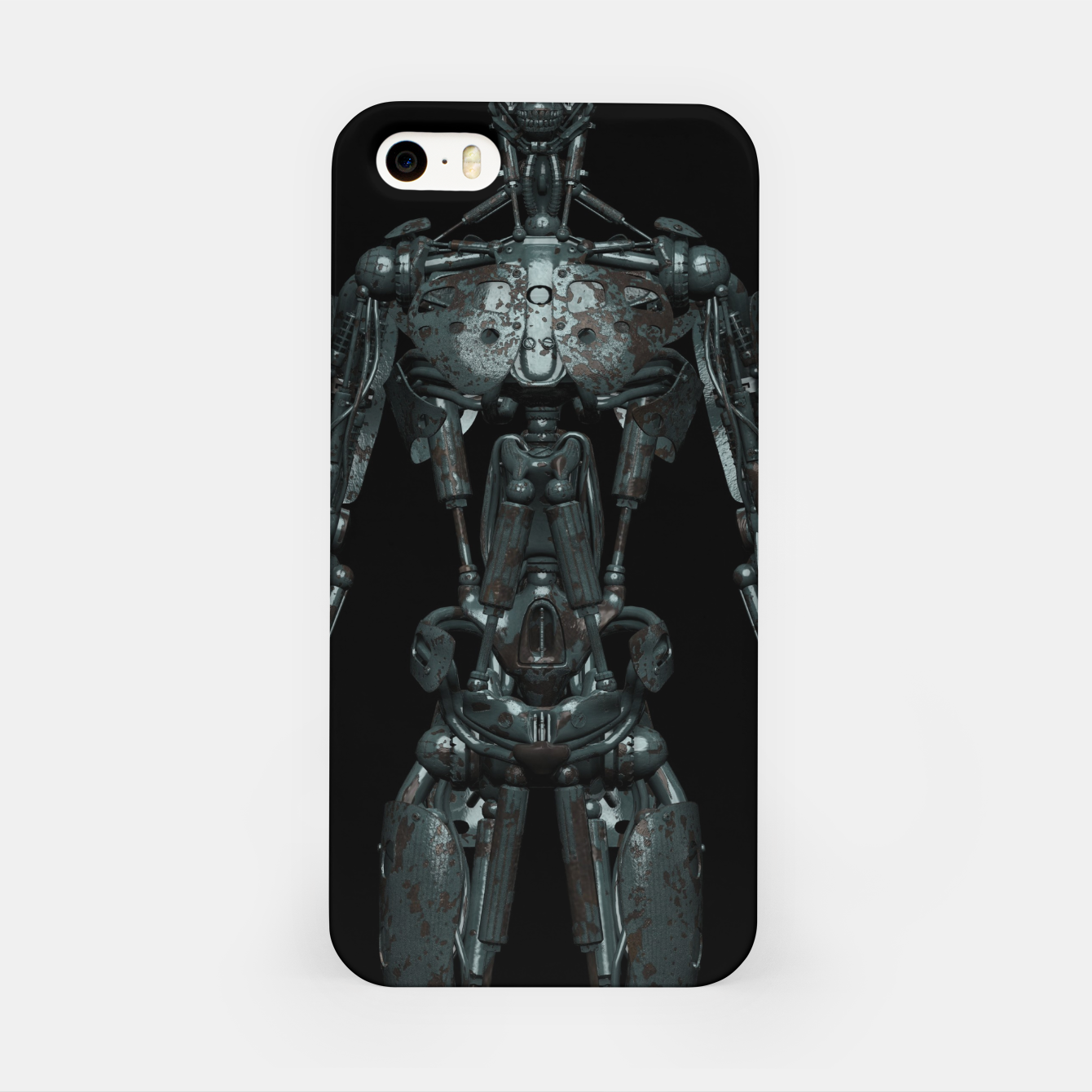 Image of Rusty Cyborg Robot Body Design iPhone-Hülle - Live Heroes