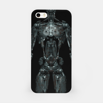 Rusty Cyborg Robot Body Design iPhone-Hülle thumbnail image