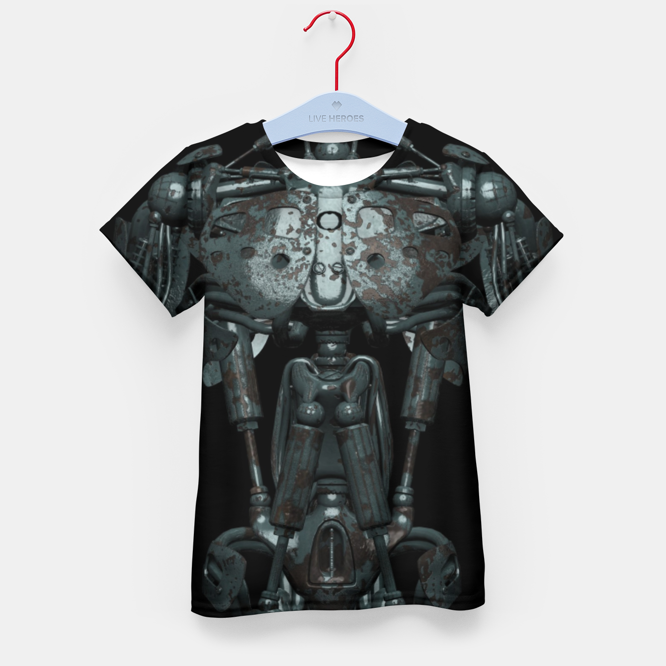 Image of Rusty Cyborg Robot Body Design T-Shirt für kinder - Live Heroes