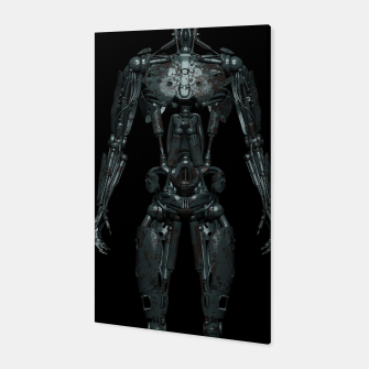 Rusty Cyborg Robot Body Design Canvas thumbnail image