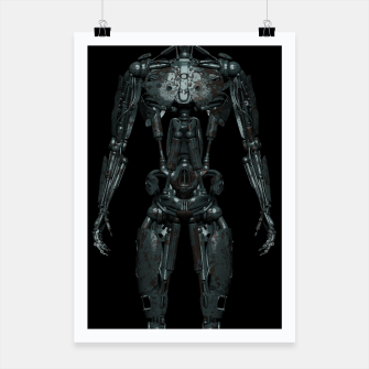 Thumbnail image of Rusty Cyborg Robot Body Design Plakat, Live Heroes