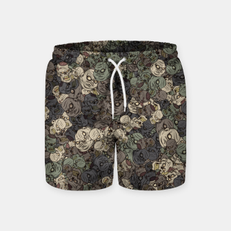 Thumbnail image of Zombie camouflage Swim Shorts, Live Heroes